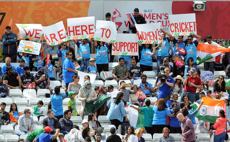 Popularity of women's cricket seems to be on the rise: Indian cricket fans holding placards in support of women's cricket during the ICC Women's World Cup 2017. AP