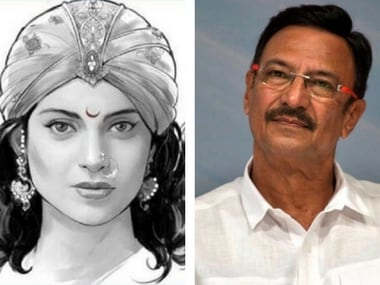 Suresh Oberoi in Kangana's Manikarnika: The Queen of Jhansi. Images via Facebook