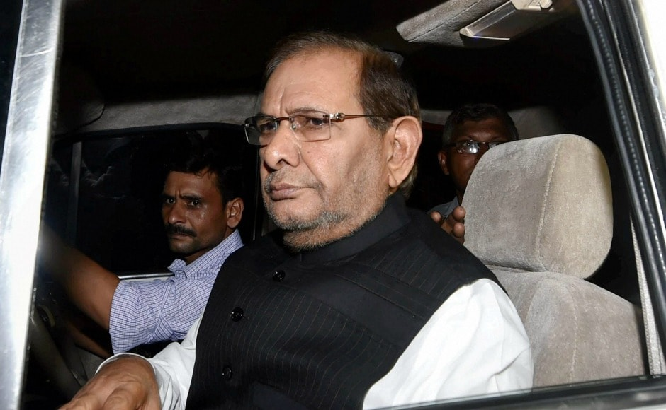 Other leaders who attended the meeting include Sharad Yadav of Janata Dal (in picture), Mallikarjun Kharge of Congress, Ram Vilas Paswan of LJP, Sharad Pawar and Tariq Anwar of NCP, and Sharad Yadav and KC Tyagi of JD(U). PTI