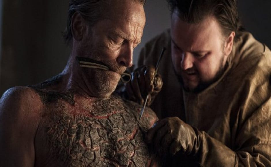 Samwell Tarly tries his best to find a cure for Jorah Mormont's greyscale disease at the Citadel in Old Town. Image via Twitter.