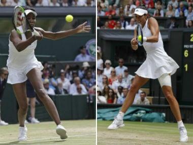 File image of Venus Williams and Garbine Muguruza. AFP