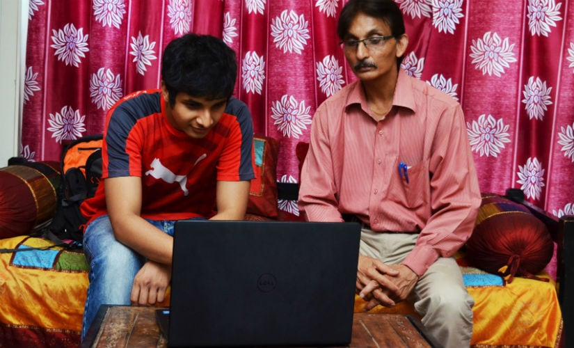 Vidit's father can't beat him anymore but loves going through his son's games. Image courtesy: Gaurav Gawand/ChessBase India