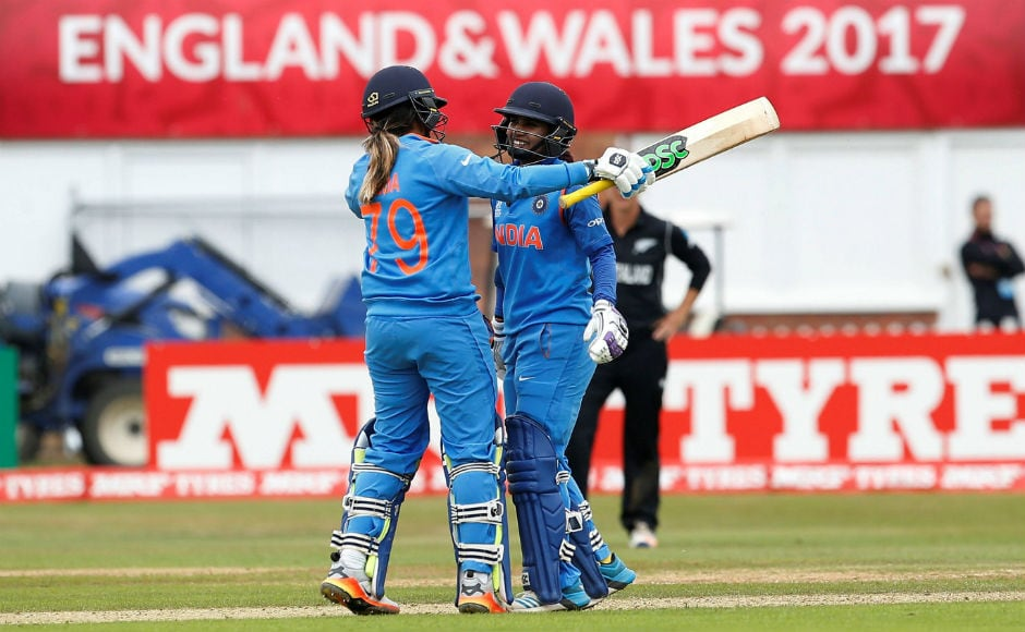 Mithali Raj and Veda Krishnamurthy added 108 runs in quick time for the fifth wicket. Reuters