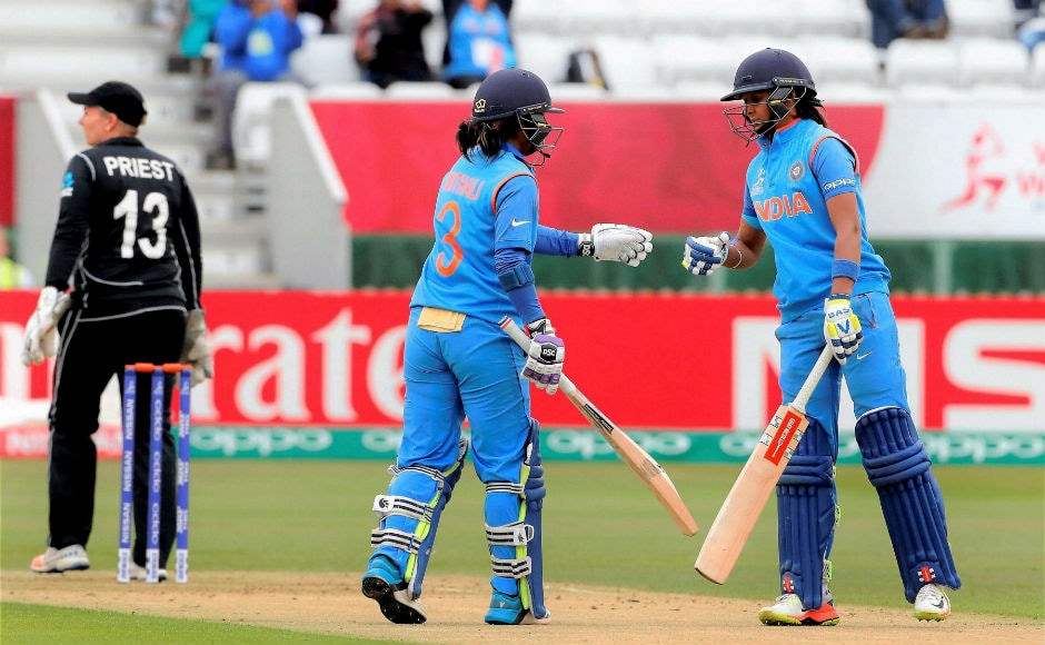 Mithali Raj (109) and Harmanpreet Kaur (60) added 132 runs for the third wicket and put India in a position of considerable comfort after two early blows. PTI