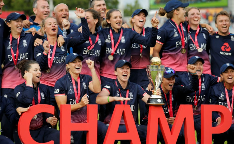 England beat India by nine runs in a tense, thrilling final of the Women's World Cup 2017 at the Lord's on Sunday. It was England's fourth World Cup title. Reuters