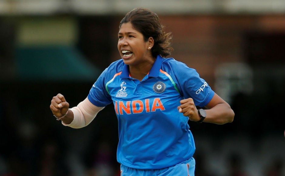 Jhulan Goswami, the highest wicket-taker in ODIs among women, put up a fine show of pace bowling, taking 3/23 runs in her 10 overs, including the important wicket of Sarah Taylor. Reuters