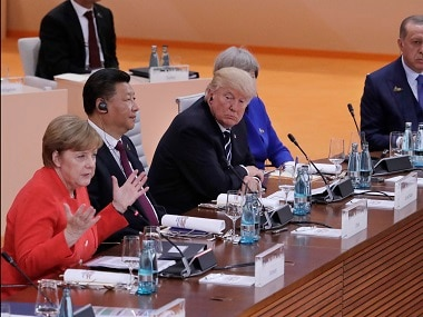 G20 leaders in the first working session of the Summit. AP
