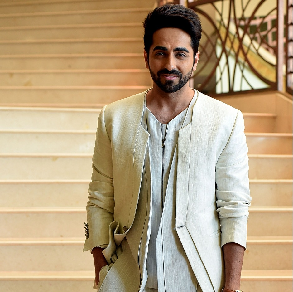 Ayushmann Khurrana poses for a photograph during a promotional event for the forthcoming Hindi film 'Shubh Mangal Saavdhan' directed by RS Prasanna in Mumbai on 1 August, 2017, / AFP PHOTO / STR