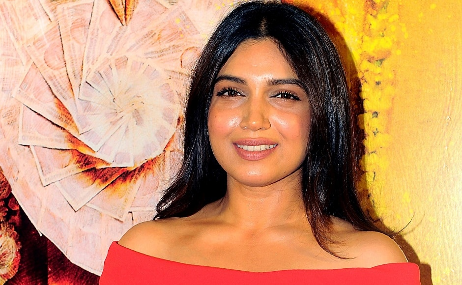 Bhumi Pednekar poses for a photograph during a screening of Toilet: Ek Prem Katha in Mumbai on 10 August, 2017. AFP PHOTO