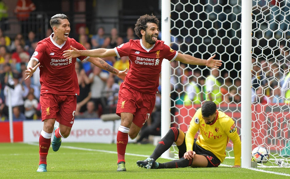 Winger Mohamed Salah scored his first goal for Liverpool in the Premier League as the Reds took lead for the first time in the match with the scoreline reading 3-2 and more than 30 minutes of play remaining. AFP
