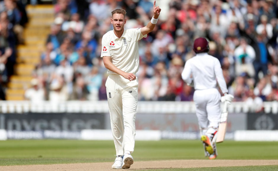 A mix-up between Kieran Powell and Shai Hope cost the former his wicket, reducing the visitors to 47 for 3. Reuters