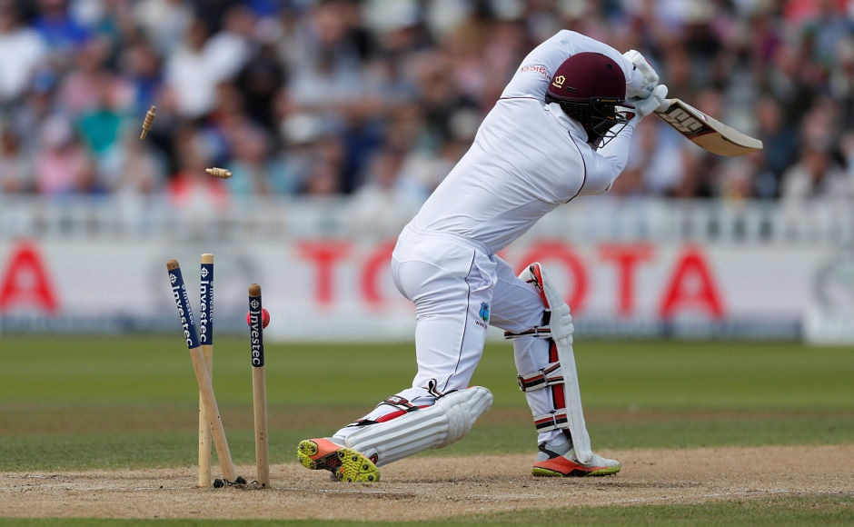 Shai Hope himself couldn't do much to help his team as he was bowled out by England's Toby Roland-Jones shortly afterwards. Reuters