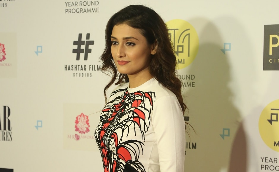 Ragini Khanna at the event. Gurgaon releases on 4 August.
