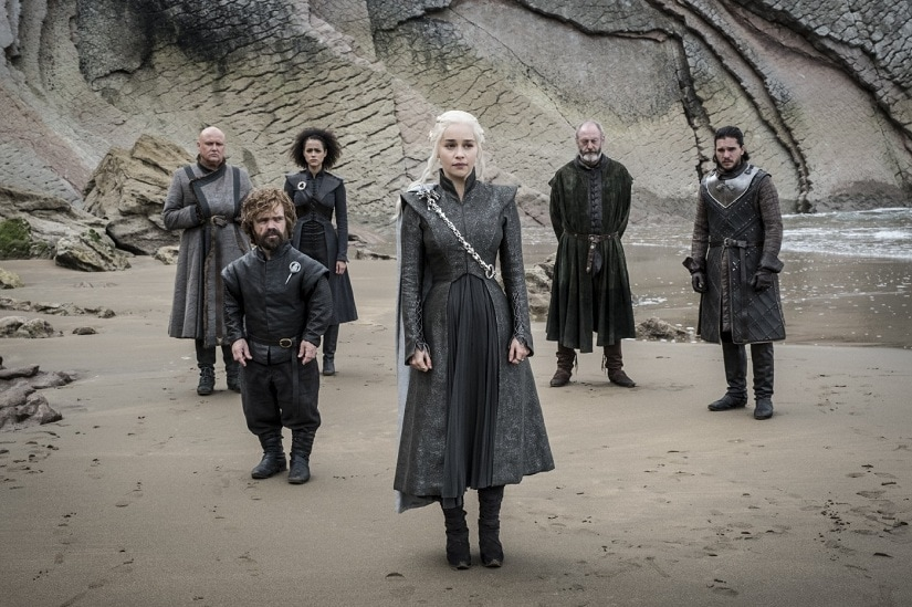 Dany with her band of merry men (and women). Still from Game of Thrones season 7 episode 4, 'The Spoils of War'. Image via HBO