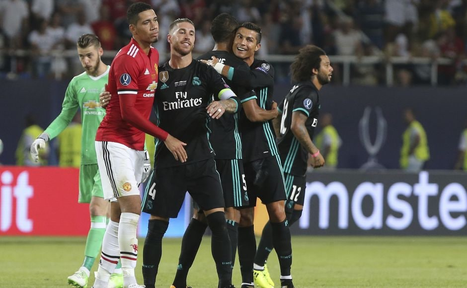 Cristiano Ronaldo went on after the 80th minute and had little chance to make an impact as Real Madrid closed down its opponents. AP