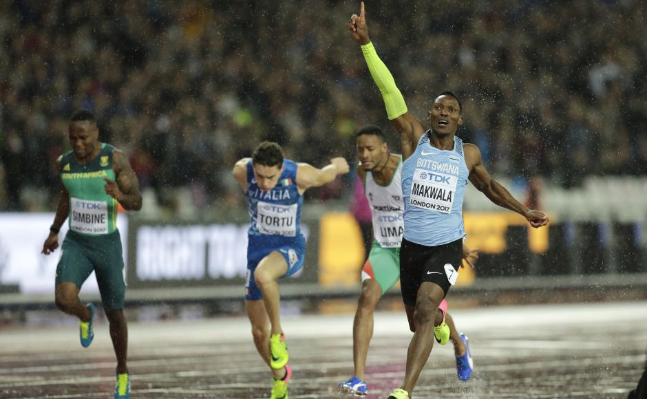 Botswana's Isaac Makwala qualified for the 200-metre final at the IAAF World Championships after getting a late go-ahead to compete. AP