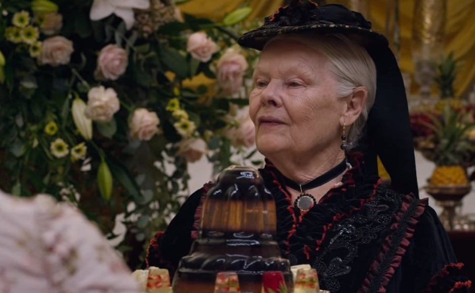 Judi Dench in a still from the trailer. Youtube screengrab
