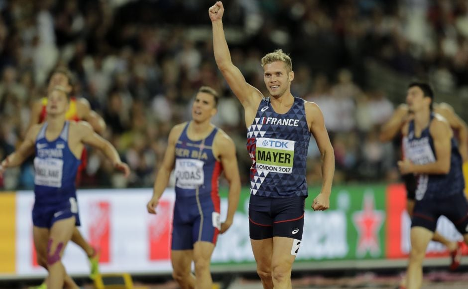 Frenchman Kevin Mayer, the Olympic silver medalist in Rio de Janeiro, got off to a strong start in the decathlon with a lifetime best of 10.7 seconds in the 100 metres.