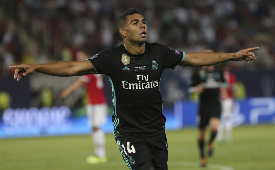 Casemiro slid in for a left-foot finish, served up by Dani Carvajal as Real Madrid went up 1-0 in the 24th minute. AP