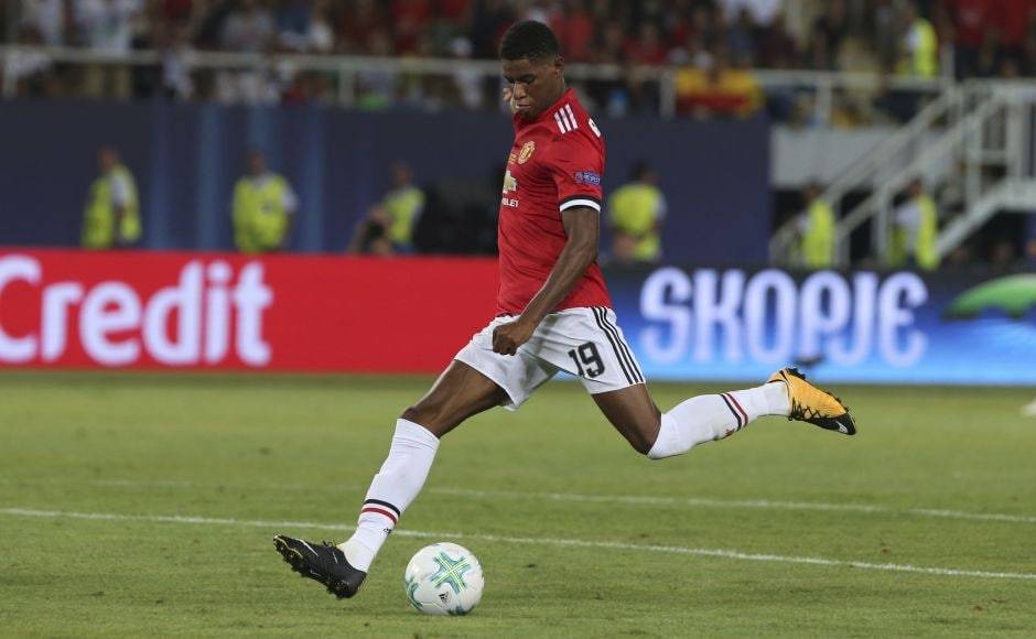 Manchester United matched Madrid for pace but lacked the finish to turn the match around. Henrikh Mkhitaryan, who regularly burst forward, and substitute Marcus Rashford provided much of United's threat. AP