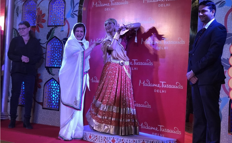 """""""We are overwhelmed to know that Madhubala's figure would be part of the Madame Tussauds Delhi. This figure would allow her admirers to cherish the golden era of cinema and once again see her beauty. We are extremely thankful to the Madame Tussauds team for creating such a beautiful depiction of Madhubala,"""" said Brij. Image from News 18."""