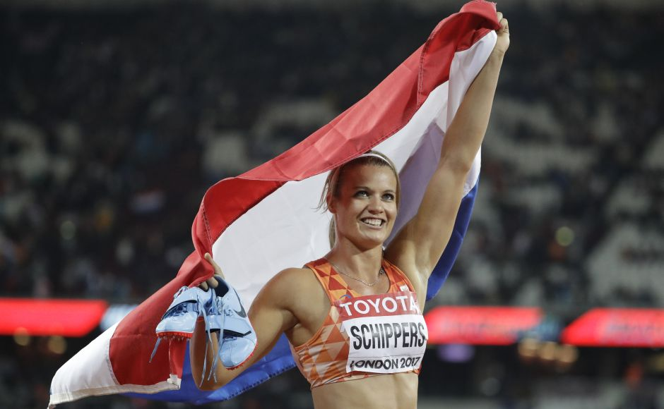 Netherlands' Dafne Schippers successfully defended her 200-metre title at IAAF World Championships 2017 in London, dipping at the line just ahead of Marie-Josee Ta Lou. AP