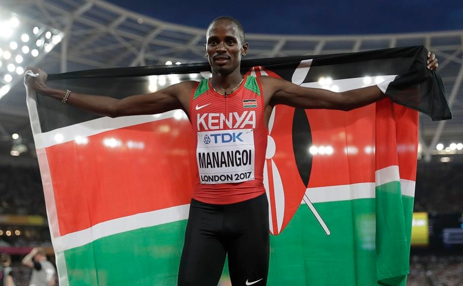 Though Asbel Kiprop failed to win his fourth world title in the men's 1,500m, his compatriot Elijah Manangoi gave Kenya a lot to cheer by winning his maiden world title.  Manangoi, the fastest man in 2017, sped past Timothy Cheruiyot who had to settle for silver. Norway's Filip Ingebrigtsen snatched the bronze by throwing himself over the finish line. AP
