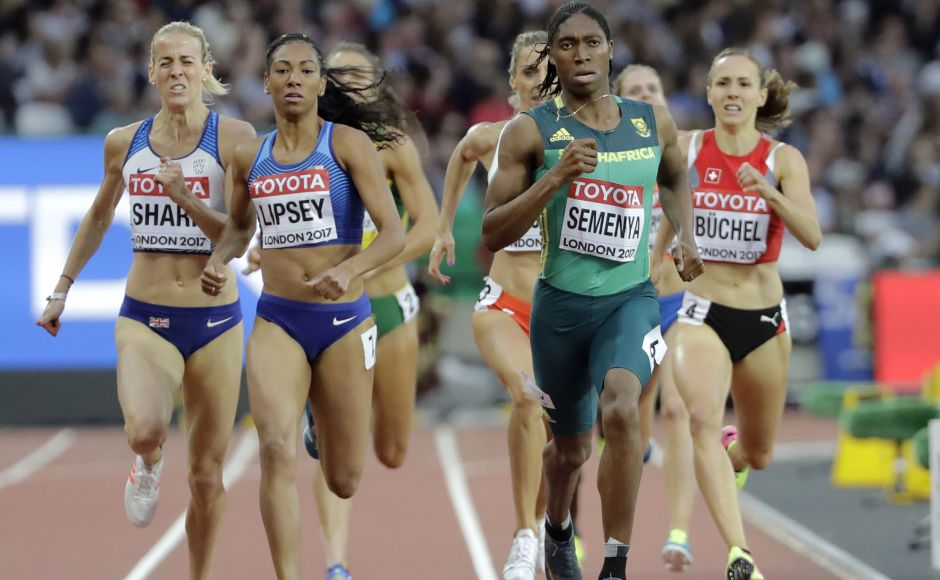 Olympic champion Caster Semenya of South Africa made it to the final of the 800 metres and will be the favourite for another gold. AP