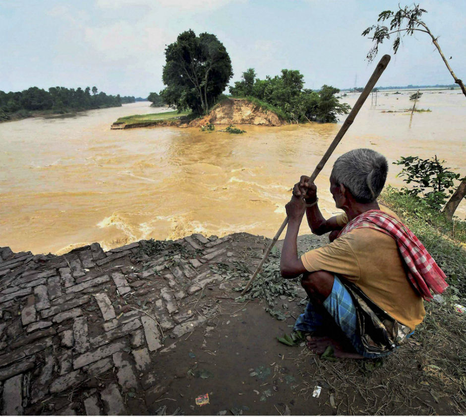 Heavy rains and floods continue to add to the miseries of Bihar, claiming over 119 lives and affecting 98 lakh people in 1,532 panchayats under 139 blocks in 16 districts. PTI