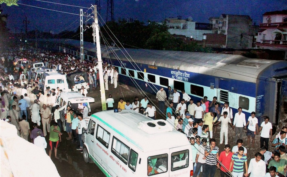 Fourteen coaches of the Utkal Express jumped the rails, with one of them crashing into a house near the track in Uttar Pradesh on Saturday, killing at least 24 people and leaving several others injured. PTI