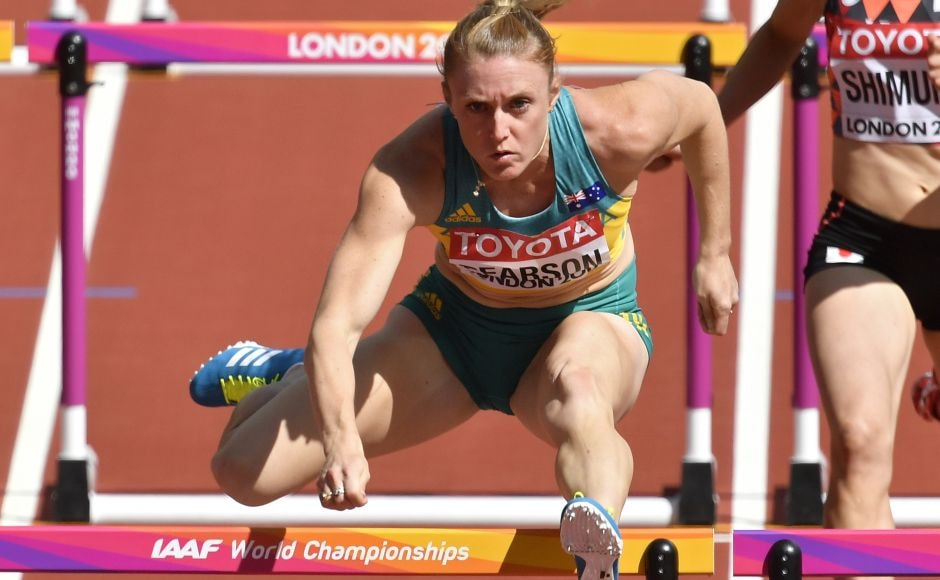 Former Olympic champion Sally Pearson of Australia produced the fastest time to win her 100-metre hurdles semifinal heat at the world championships. AP