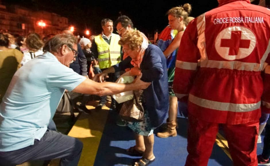 A 3.6-magnitude earthquake rattled the Italian resort island of Ischia at the peak of tourist season, collapsing few buildings, cutting electricity and sending panicked residents and tourists into the streets. AP