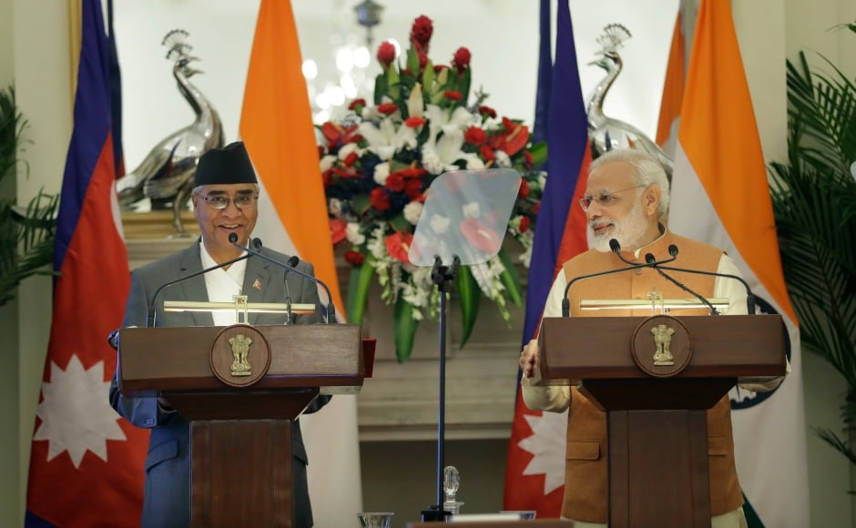 India and Nepal on Thursday inked eight pacts including cooperation on countering drug trafficking. Prime Minister Narendra Modi met his Nepalese counterpart Sher Bahadur Deuba in New Delhi to discuss strategic bilateral issues. AP