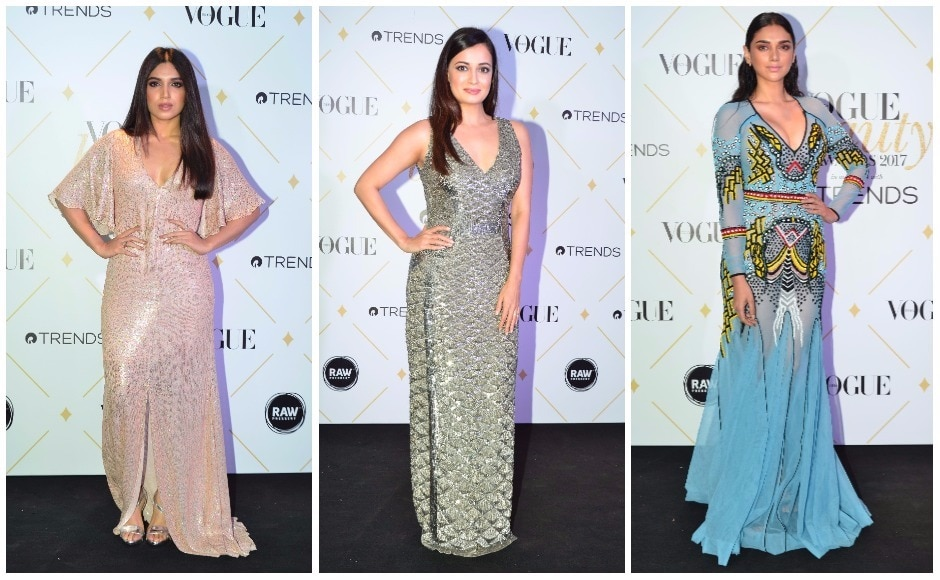 The 8th edition of the Vogue Beauty Awards 2017 saw a slew of Bollywood celebrities walk the red carpet. Among them were Bhumi Pednekar, Dia Mirza and 'Flawless Face' winner Aditi Rao Hydari.