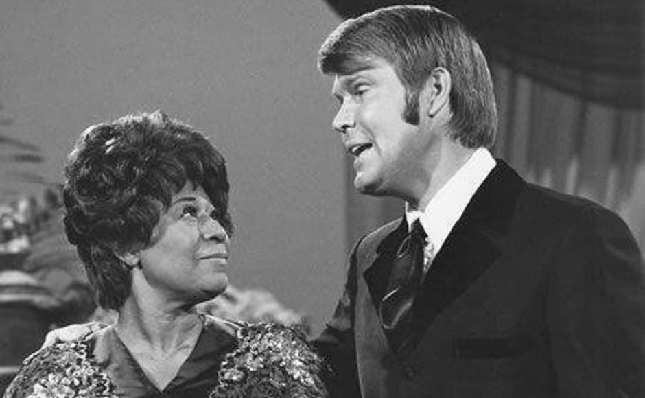 Glen Campbell with Ella Fitzgerald. Image from Facebook