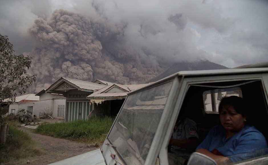 Mount Sinabung on the Indonesian island of Sumatra blasted volcanic ash as high up as 4.2 kilometres on Wednesday, one of its biggest eruptions in the past several months of intense high activity. AP