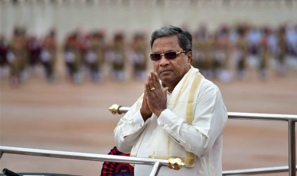 Karnataka chief minister Siddaramaiah greeted people during the celebration of Independence Day at Parade Ground in Bengaluru. In his address, he said that imposition of any language on a state, which has its own official language, is unconstitutional.PTI
