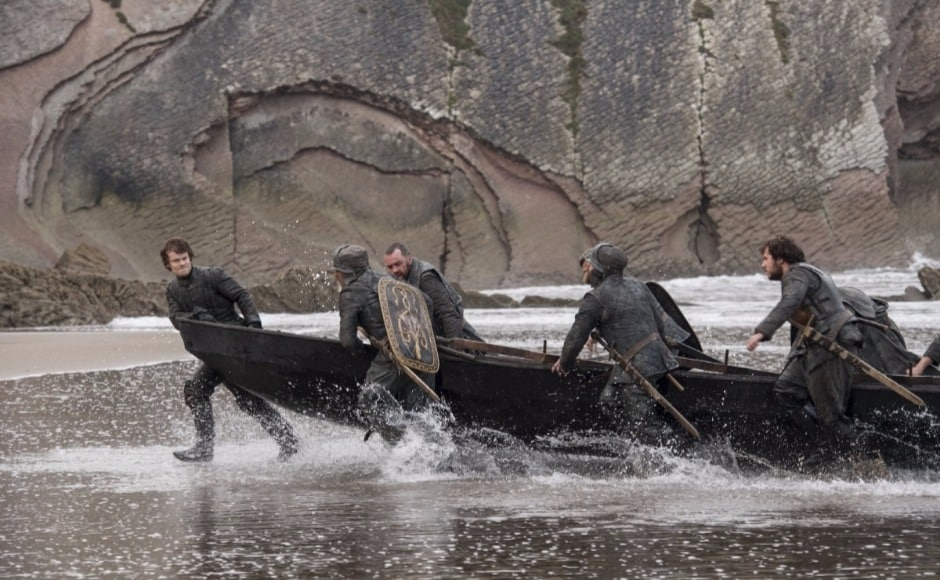 Episode 4 will see Theon return with the Ironborn who fished him out of the sea, to Dragonstone. Image courtesy HBO