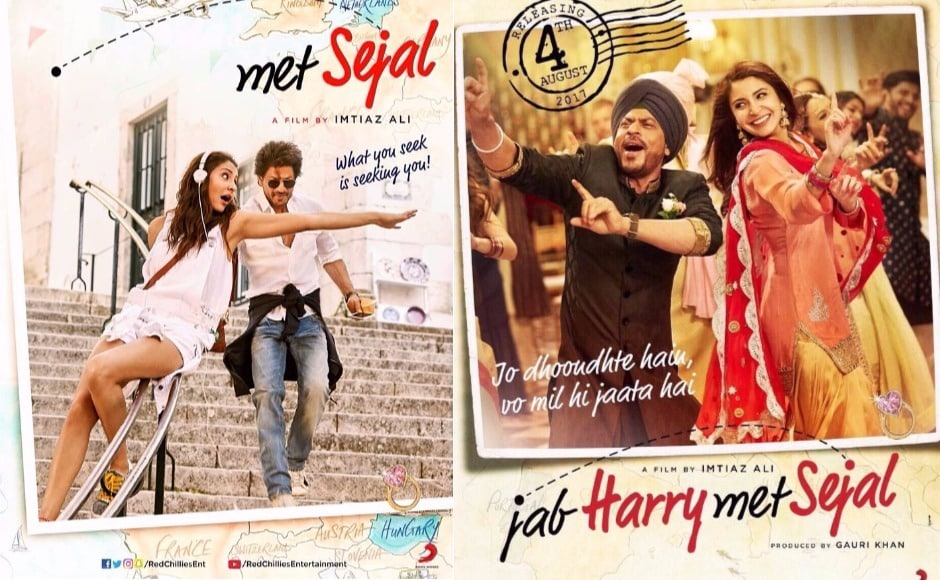 Shah Rukh Khan and Anushka Sharma star in Imtiaz Ali's Jab Harry Met Sejal. JHMS is a big-budget cross-continent love story that involves travel, profound human experiences and a sometimes humorous exploration of emotions. Image via Facebook