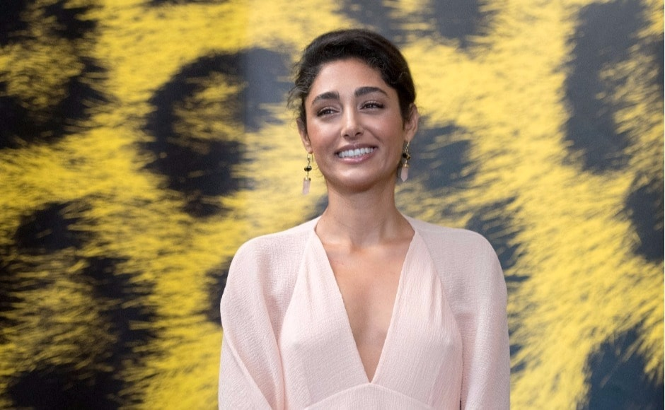 Actress Golshifteh Farahani of Iran poses during the photo call for the film 'The Song of Scorpions' at the 70th Locarno International Film Festival in Locarno, Switzerland, on Wednesday, 9 August. AP Photo