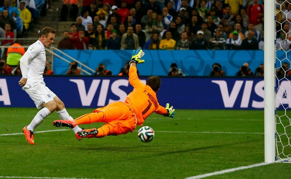 Even though Wayne Rooney was prolific in front of the goal, it took him his three World Cups to score his first goal in the tournament when he equalised for England against Uruguay in 2014. Reuters