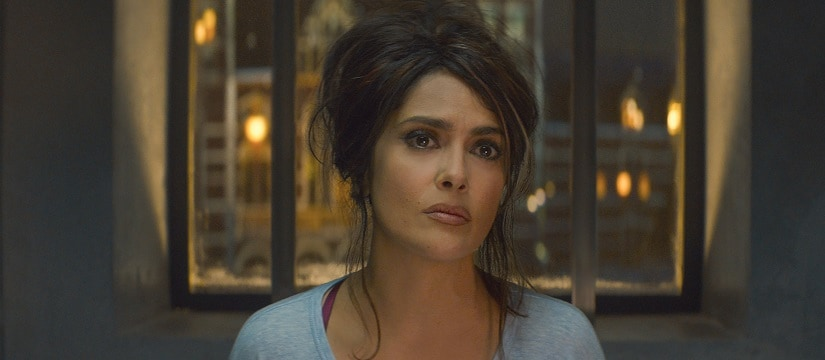 Salma Hayek in The Hitman's Bodyguard. Image from Facebook