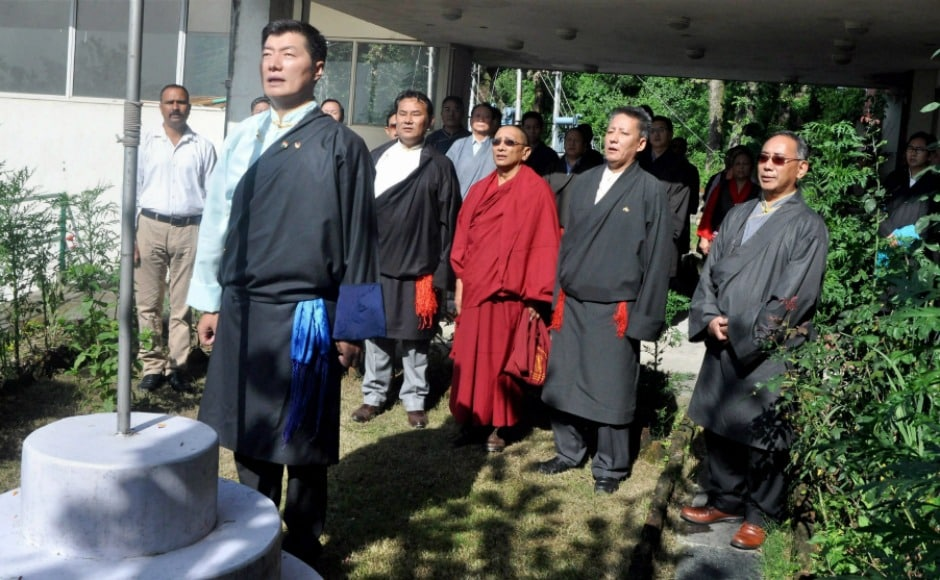 Tibetan prime minister in-exile Lobsang Sangay also hoisted the tricolour on India's 71st Independence Day at Tibetan Secretariat in Dharamsala. PTI