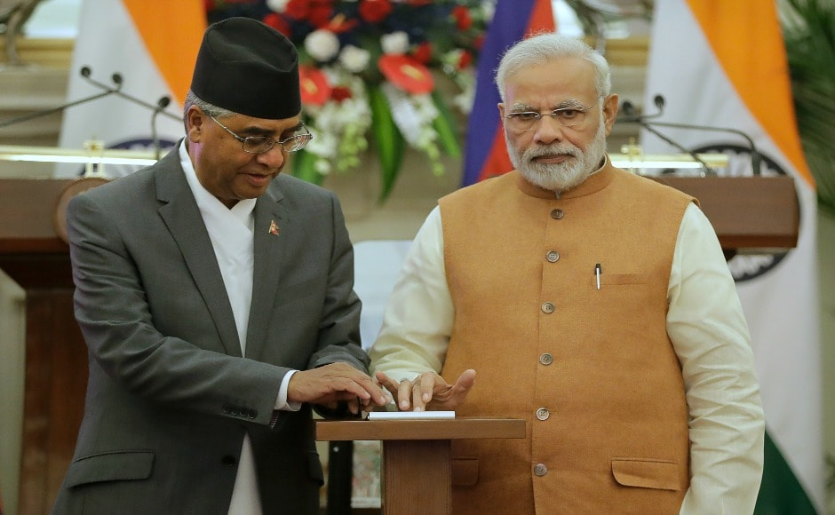 The two leaders inaugurated Kataiya, Kusaha, and Raxaul-Pawanipur transmission lines to increase the amount of electricity given by India to Nepal by 100MW. AP