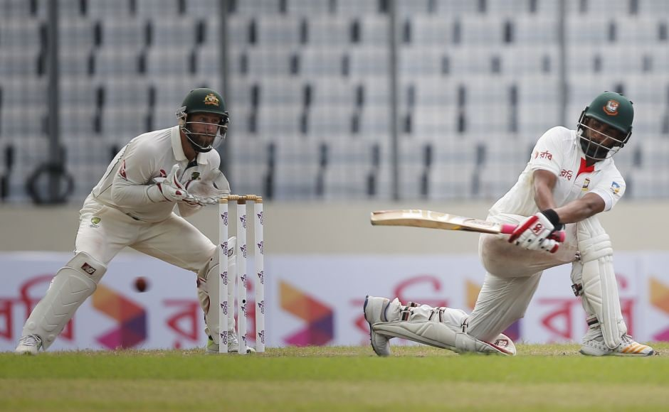 Bangladesh ended the second day on 45-1 with opener Tamim Iqbal batting on 30 with nightwatchman Taijul Islam yet to open the account. AP