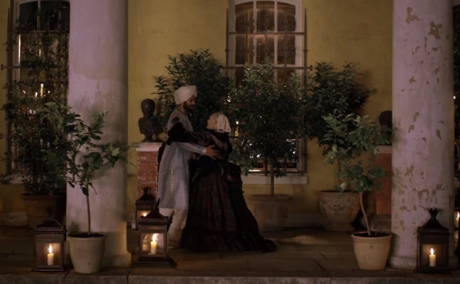Judi Dench and Ali Fazal in a dance sequence from Victoria and Abdul. Youtube screengrab