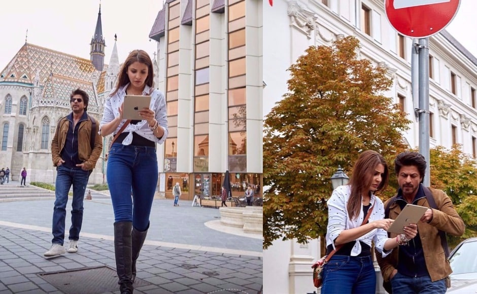 Anushka Sharma (Sejal) walks into his life as a tourist, but just as she meets him she tells him that she's lost her engagement ring and won't leave until she finds it. Some quick background: she visited Amsterdam with her whole family, got engaged and has somehow misplaced her ring. Image via Facebook