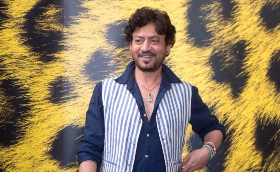 Actor Irrfan Khan poses during the photocall for the film 'The Song of Scorpions' at the 70th Locarno International Film Festival in Locarno, Switzerland, on Wednesday, 9 August. AP Photo