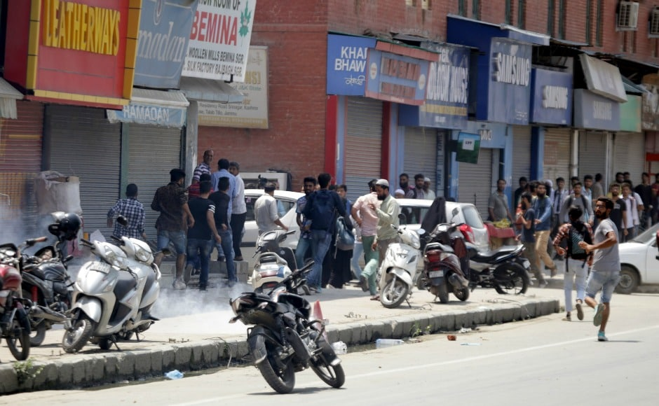 Several locals, however, indulged in stone-pelting, to disrupt encounter operations. Two civilians were killed and at least half a dozen were injured in retaliatory firing. Firstpost/Suhail Bhat