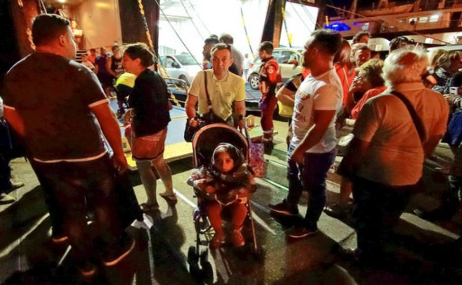 Several tourists fled from Ischia island at Pozzuoli, near Naples. Around 39 people suffered slight injuries however officials fear several others may be trapped in the rubble. AP